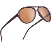 Royal Son Brown Polarized Wayfarer Sunglasses For Men Women Stylish (Aviator Shape Unisex Goggles)