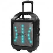 Блутут колонка DENVER TSP-505 с вградена акумулаторна батерия и LED светлинен ефект, Черен
