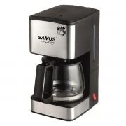 Cafetiera Samus Fantasy, 680 W, 6-8 ceşti, 0.8 L, Funcţie anti-picurare, Negru/Ornament inox