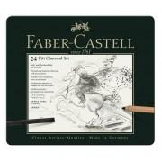 Set Pitt Monochrome Carbune 24 Buc. Faber-Castell