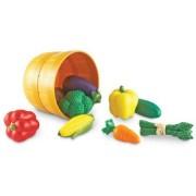 Set de sortare culori Learning Resources - Un cos cu legume colorare pentru dezvoltarea simtului tactil