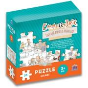 Ema si Eric invata bunele maniere - Puzzle gigant/Ioana Chicet-Macoveiciuc