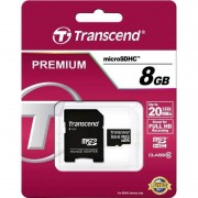 Transcend PREMIUM MICROSDHC 8GB CLASS10 20MB/S TS8GUSDHC10