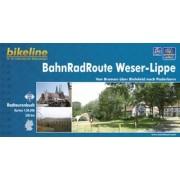 Fietsgids Bikeline BahnRadRoute Weser-Lippe von Bremen über Bielefeld nach Paderborn   Esterbauer