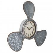 [en.casa]® Nástěnné hodiny ve tvaru lodní skrutky - 61 x 7 x 56 cm - barevné - sklo