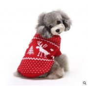 Christmas Pet Dog CatSnow And Deer Winter Warm Sweater Hoodie Pappy Jumpsuits