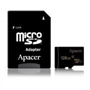 Micro SD Card, 128GB, Apacer Micro-Secure Digital XC, Class10, 1xAdapter (AP128GMCSX10U1-R)