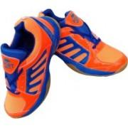 Port Victor Badminton Shoes For Men(Orange, Blue)