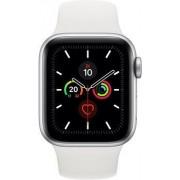 Apple Wie neu: Apple Watch Series 5 40 mm Aluminium GPS + Cellular silber Sportarmband weiß
