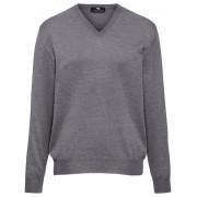 Peter Hahn Heren Trui van 100% scheerwol met V-hals Van Peter Hahn grijs