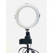 Tripod Ring Light 20cm com Pé de Suporte até 2m de Altura