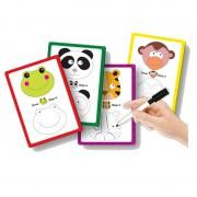 Set creativ Animalutele vesele Learning Kitds, 12 carduri, 1 marker special