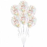 Set baloane latex cu confetti