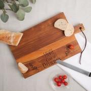 YourSurprise Planche à pain - Teck - Rectangulaire - Horizontal (L)