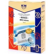 Sac aspirator pentru BoschSiemens typ E D G sintetic 4 saci + 1 filtru K and M