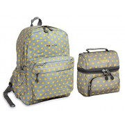J World Campus Back to School Fashion Backpack and Lunch Bag Oz / Corey Series (Candy Buttons)