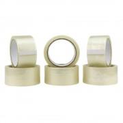 Set 6 Role Banda Adeziva PACK Acrilic, 48mm x 60m, Benzi Transparente pentru Ambalare