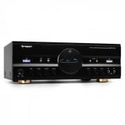 Auna Amplificador Home Cinema HiFi. 600 W, color negro (AV1-AMP-218-B-V2)