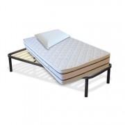 InMaterassi Kit Materasso Memory In Bamboo + Rete A Doghe + Cuscini Memory Kit - 90x190 Cm Singolo + Rete + 1 Cuscino