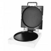 Уред за приготвяне на пица и омлети Royalty Line PZB-1200, 1200W, Незалепващо покритие, Горно и долно нагряване, Бял