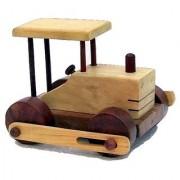 Desi Karigar Wooden Toy Road Roller ( Yellow 6.5 x 6 x 4 )