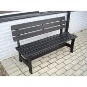 Holzsitzbank, schwarz Gesamtlänge 1600 mm Gesamthöhe 870 mm