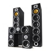 V9B surround högtalarset svart, 5 stycken 1240W