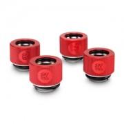 Pachet 4 bucati fitinguri compresie EK Water Blocks EK-HDC 12mm G1/4 Red