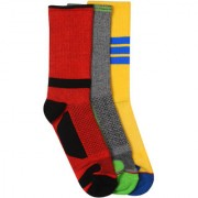 Soxytoes Compression Sock Pack Multi-Coloured Cotton Calf Length Pack of 3 Pairs for Men Formal Socks (SOSN0064)