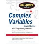 Schaum's Outline of Complex Variables, 2ed, Paperback/Murray Spiegel