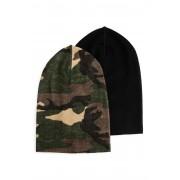 Nordbjørn Abisko Mössa 2-pack, Camouflage/Black Solid 2-4