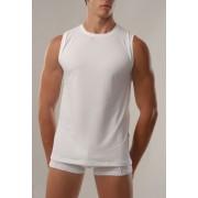 Geronimo Sleeveless Muscle Top T Shirt White 254