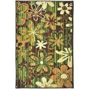Covor Decorino Floral C23-031101, Verde/Bej/Maro, 100x150 cm