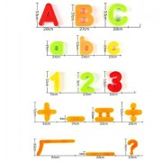 Magnetic Letters Numbers and Math Symbols - Educational Refrigerator Magnet Set for Kids 80 Pieces