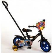 Batman Barncykel 10 tum med stödhjul & cykelstång