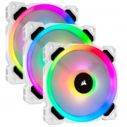 FAN, Corsair LL120 RGB, 120mm Dual Light Loop, Triple Pack Pack with Lighting Node PRO, White (CO-9050092-WW)