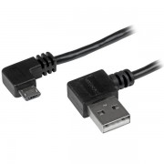 Startech 2 m 6 Ft Micro-usb Male To Male Cable With Right-angled Conne