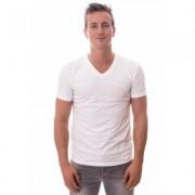 Claesens Stretch T-Shirt White V-neck TWO PACK ( CL 1223)