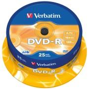 DVD-R4,7 VER25 - Verbatim DVD-R 4,7GB, 25-er CakeBox