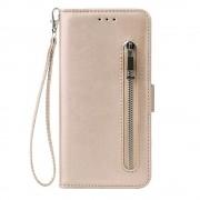 Shop4 - Samsung Galaxy A51 Hoesje - Wallet Case Cabello met Ritssluiting Goud