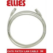 Ellies CAT6 SFTP 3m Network Patch Cable - Grey,