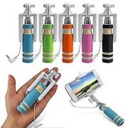 Mini Selfie Stick With AUX Cable - Multi Color