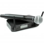Microfono Shure GLXD24/SM58 1 Canal Negro