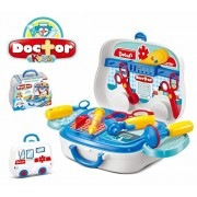 New DOCTOR KIDS Carry Along Doctor Set Pretend Play Toy, Briefcase Model