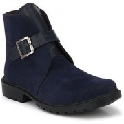 ZebX Blue Casual Boot