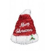 Decoratiune craciun ornament pentru geam 35/27 cm caciula