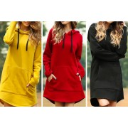 Qingdao Sihaihuifeng Trade LTD t/a YelloGoods £11 instead of £29.99 for a women's hooded jumper dress in UK sizes 8-20 from YelloGoods - save 63%