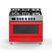 Bompani BO689DA/N Cucina Tech Rosso e Acciaio