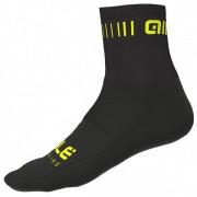 Alé Strada Q-Skin Socks Calze da ciclismo (44/47, nero)
