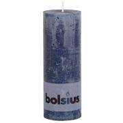 Bolsius rustieke stompkaars Donker blauw 190x68